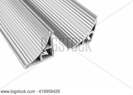 Aluminium Profile For Windows And Doors Manufacturing. Structural Metal Aluminium Shapes. Aluminium