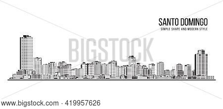 Cityscape Building Abstract Simple Shape And Modern Style Art Vector Design -  Santo Domingo