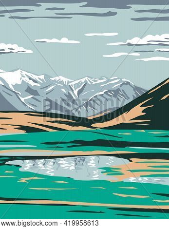 Wpa Poster Art Of The Brooks Range From Near Galbraith Lake Located In The North Slope Borough Of Al