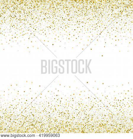 Gold Glitter Texture On White Background Golden Dots Background
