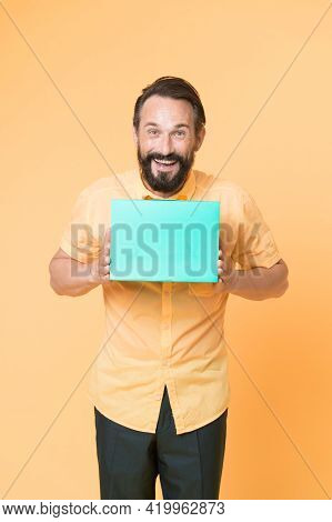 Salesman Selling Goods. Special Offer. Bearded Man Shopping Bags Seasonal Sale. Hipster Buying Sale