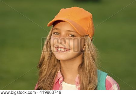 Her New Favorite Look. Happy Kid With Beauty Look. Fashion Look Of Little Hipster. Hip Hop Girl Smil