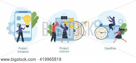 Project Lifecycle Concept. Project Initiation, Closure, Deadline, Documentation, Business Analysis,