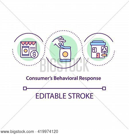 Consumers Behavioral Response Concept Icon. Customer Buying And Using Products Analysis. Behavior Of