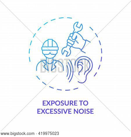 Exposure To Excessive Noise Concept Icon. Hearing Loss Cause Idea Thin Line Illustration. Sound Perc