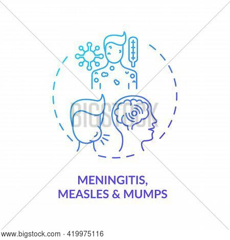 Meningitis, Measles And Mumps Concept Icon. Acquired Hearing Loss Idea Thin Line Illustration. Audit