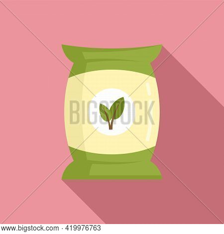 Fertilizer Pack Icon. Flat Illustration Of Fertilizer Pack Vector Icon For Web Design