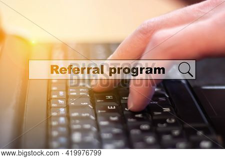 The Concept Of A Novice Businessman Pursuing Referral Programs On The Internet. Startup Concept With