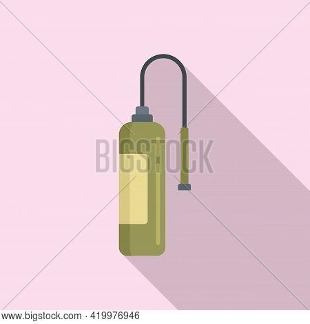 Fertilizer Oxygen Bottle Icon. Flat Illustration Of Fertilizer Oxygen Bottle Vector Icon For Web Des