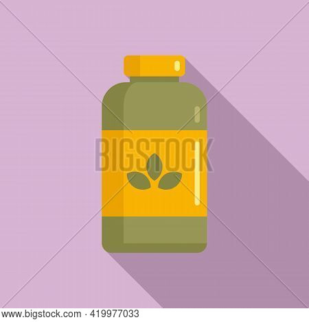 Garbage Fertilizer Icon. Flat Illustration Of Garbage Fertilizer Vector Icon For Web Design