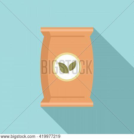 Plant Soil Pack Icon. Flat Illustration Of Plant Soil Pack Vector Icon For Web Design