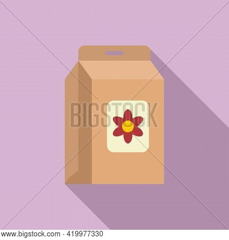 Flower Compost Icon. Flat Illustration Of Flower Compost Vector Icon For Web Design