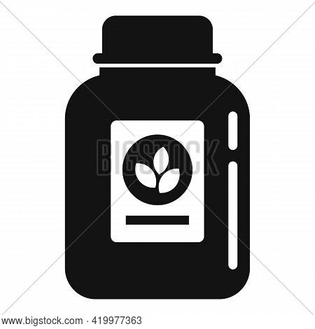 Fertilizer Jar Icon. Simple Illustration Of Fertilizer Jar Vector Icon For Web Design Isolated On Wh
