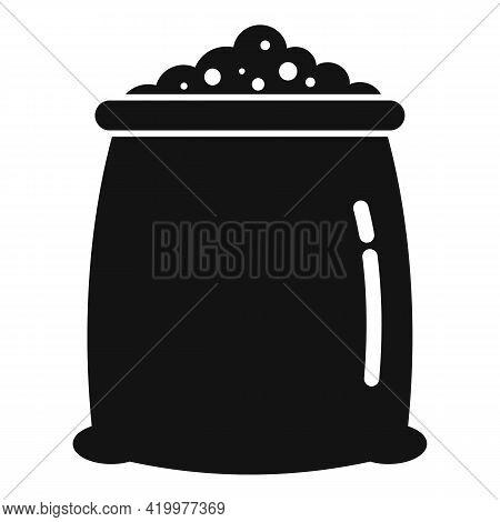 Fertilizer Soil Sack Icon. Simple Illustration Of Fertilizer Soil Sack Vector Icon For Web Design Is