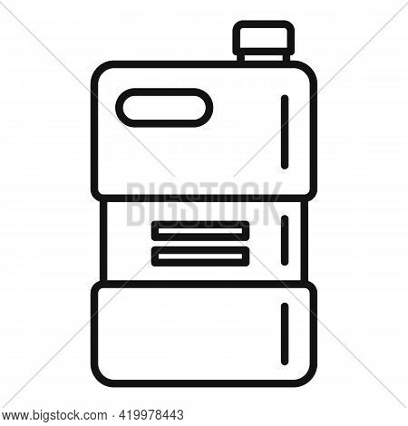 Bio Fertilizer Canister Icon. Outline Bio Fertilizer Canister Vector Icon For Web Design Isolated On