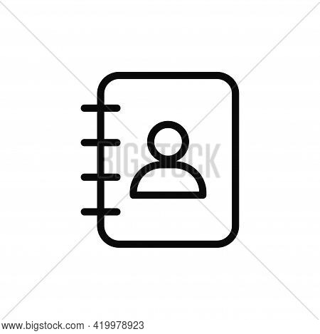 Contact Book Icon Isolated On White Background. Contact Book Icon In Trendy Design Style For Web Sit
