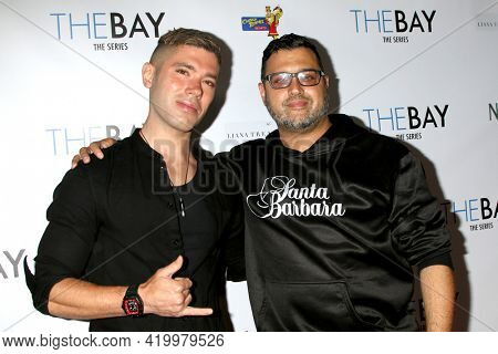 LOS ANGELES - MAY 8:  Kristos Andrews and Gregori J Martin at the The Bay's  Season Finale Screening at the Private Residence on May 8, 2021 in Los Angeles, CA
