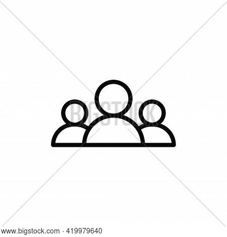 Group Icon Isolated On White Background. Group Icon In Trendy Design Style For Web Site And Mobile A