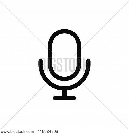 Microphone Icon Isolated On White Background. Microphone Icon In Trendy Design Style For Web Site An