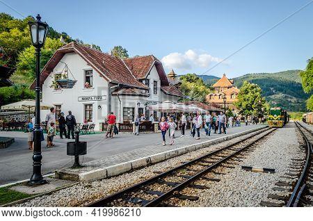 Visegrad, Bosnia, August 16, -  Bosnia And Herzegovina, 2014: Sharganska Osmica. Museum-tourist Comp