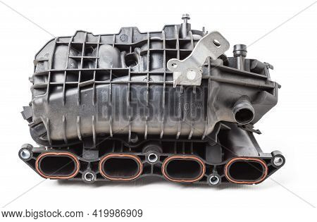 Intake Manifold Plastic Housing With A System For Adjusting The Air Flow To The Engine. Repair And R