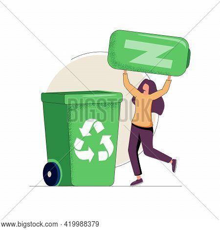 Reuse Reduce Recycling Abstract Concept Vector Illustrations. Reduce, Reuse, Recycle Approach Concep