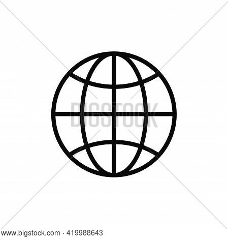 Globe Icon Isolated On White Background. Globe Icon In Trendy Design Style For Web Site And Mobile A