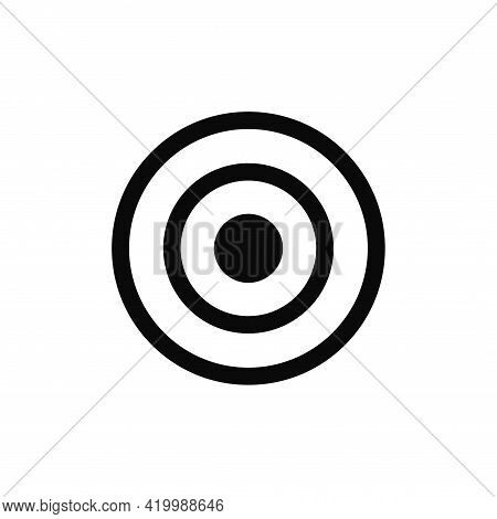 Target Icon Isolated On White Background. Target Icon In Trendy Design Style For Web Site And Mobile