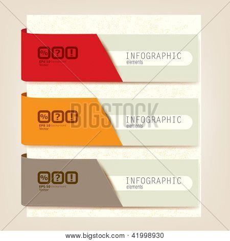 Satz von Infographik Elemente.  Entwurfsvorlage. Vektor-illustration