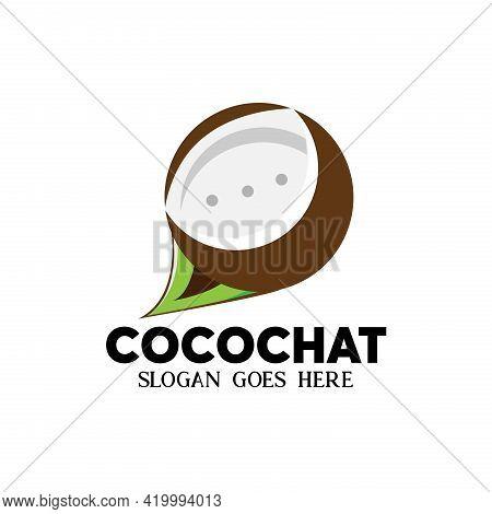 Coco Chat Design Illustration Vector. Coco Chat Logo Vector