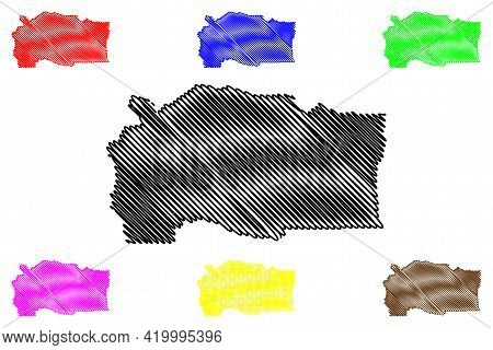 Linn County, Oregon State (u.s. County, United States Of America, Usa, U.s., Us) Map Vector Illustra