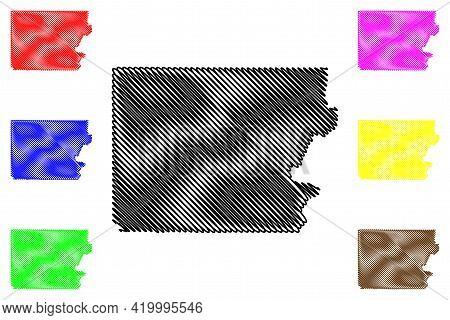 Polk County, Oregon State (u.s. County, United States Of America, Usa, U.s., Us) Map Vector Illustra