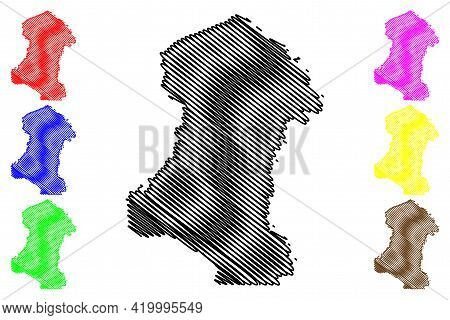 Sherman County, Oregon State (u.s. County, United States Of America, Usa, U.s., Us) Map Vector Illus