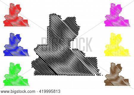 Wasco County, Oregon State (u.s. County, United States Of America, Usa, U.s., Us) Map Vector Illustr