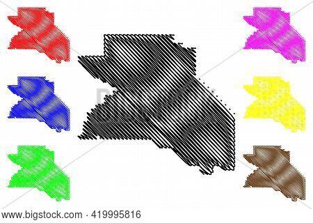 Washington County, Oregon State (u.s. County, United States Of America, Usa, U.s., Us) Map Vector Il