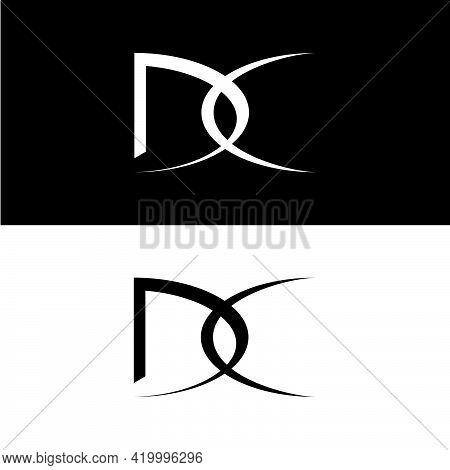 Creative, Simple And Elegant Initial Letter Dc Linked Logo Template In Flat Design Monogram Illustra