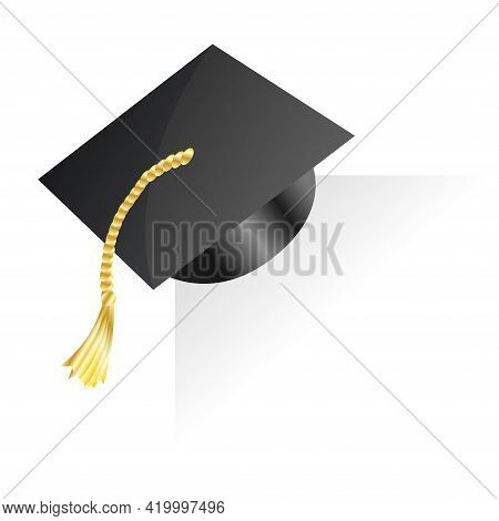 Graduation Cap. Element For Degree Ceremony And Educational Programs Design. Graduation University O