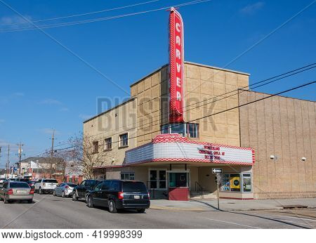 New Orleans, La - January 9: Historic Carver Theater On Orleans Avenue On January 9, 2021 In New Orl