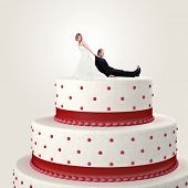 gromm try to escape from wedding cake topper poster