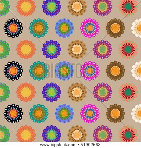 Create Seamless Folk Flower Pattern