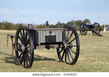 Civil War Cannon at Battle of Bull Run/Manassas