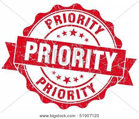 Priority Grunge Stamp