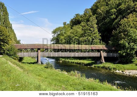 Germany, Bridge Over Wutach River