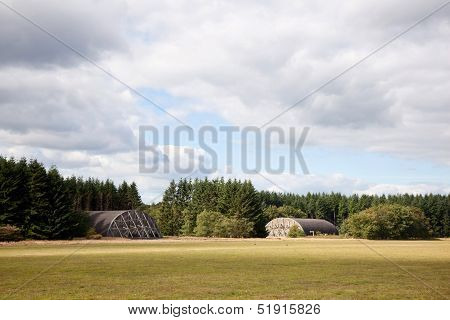 Shelters On Former Airfield Soesterberg