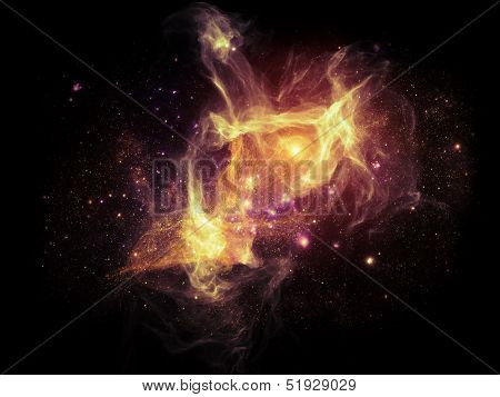 Visualization Of Fractal Nebulae