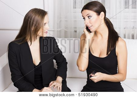 Two beautiful businesswomen