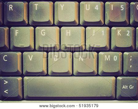 Retro Look Computer Keyboard