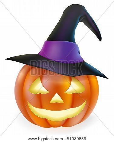 Witch Hat Halloween Pumpkin