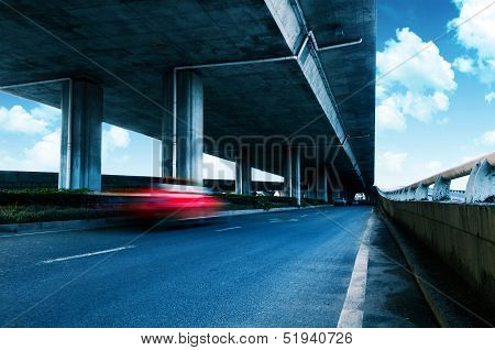 Under Elevated Road