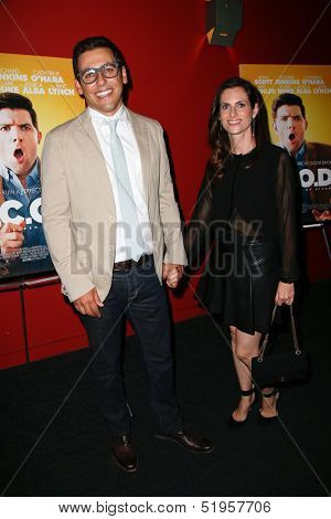 NEW YORK-OCT 3: Director Stuart Zicherman (L) and wife Ruthie attend the premiere of 'A.C.O.D.' at the Landmark Sunshine Theater on October 3, 2013 in New York City.